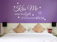 Kiss Me Under The Light - Wall Art Quote, Wall Sticker, Modern Vinyl Transfer